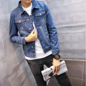 China Quick Dry Plus Size Mens Jean Jackets , Korean Style Mens Sleeveless Denim Jacket on sale
