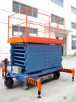 Portable Motorized Aerial Working Mobile Scissor Lift Platform 14 Meters Height