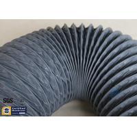 China PVC Coated Fiberglass Fabric 150MM HVAC Flexible Air Ducts 10M Grey 260℃ on sale