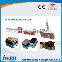 China Jwell fully automatic WPC plastic extrusion line for PE&PP on sale