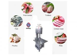 China Desktop Type Meat Processing Machine / Frozen Fish Meat Bone Saw Cutting Machine on sale