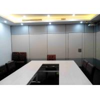 Mordern Office Sliding Partition Wall , Sliding Wall Dividers Robust Aluminium Frame