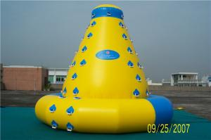 China Customized Size Inflatable Water Climbing Wall , Inflatable Water Sports Toys on sale