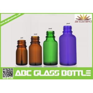 China Cool Empty 5ml 10ml 20ml Amber Green Blue Glass Essential Oil Bottle on sale