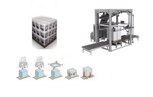 China Automatic Film Stretching Machine , Stretch Film Wrapping Machine Touch Screen on sale