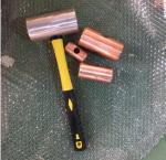 Double Power Forging Hammer Head ,DIN845 Red Copper Color Brass Without Fiber Handle Export Finland ,1kg oz.LB
