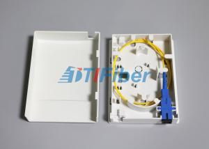 China Compact Structure Faceplate FTTH Mini Fiber Optic Terminal Box / Ofc Termination Box on sale