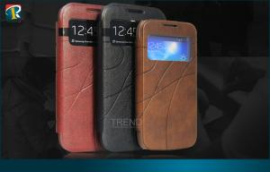China Leather Flip Samsung Galaxy Protective Cases Wallet for Galaxy S4 Mini I9190 on sale