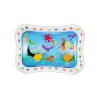 China Sea Fish Inflatable Baby Water Mat Cute Air Children Play Mat For Fun on sale