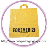 China CPE / LDPE / HDPE Soft Loop Handle Bag , Custom Plastic Shopping Bags on sale
