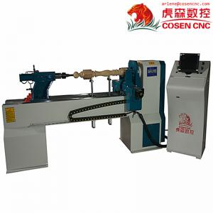 China Cheap price virable speed  CNC wood lathe machine with 2 knifes for furniture legs CNC S CE on sale