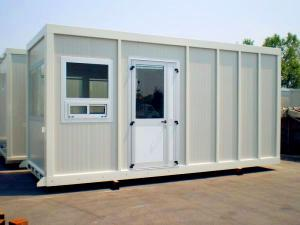 China Red Floor Steel Storage Container Homes Waterproof Double Sandwish Panel Wall on sale