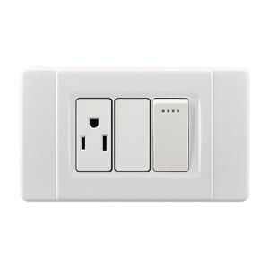 China Universal Light Switches And Sockets , White Electrical Sockets And Switches on sale