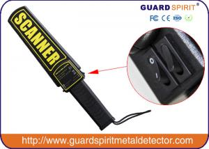 China Super Handheld Metal Detector Wand , Hand Held Body Scanner for Security on sale