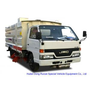 China JMC Truck Mounted Road Sweeping Machine With 4 Brushes 5.5 Cbm Trash 1,5 Cbm Water on sale
