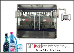 China PLC Inline 8 Heads Ointment Filling Machine For Shampoo / Shower Gel / Fabric Softener on sale