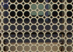 China PVDF Coated Aluminum 5052 Laser Cut Perforated Wall Panels 0.3 Mm -3.0 Mm Thick on sale
