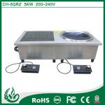 Double burner commercial induction cooker