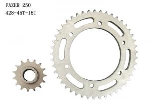 China FAZER250 Motorcycle Sprocket Chain Kit 45T-15T Chrome Plating Surface Treatment on sale