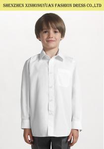 China Kids School Uniforms Print Logo / White Shirt Girls School Uniforms on sale