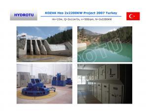 China Vertical Kaplan Water Turbine / Kaplan Hydro Turbine with Generator and Speed Governor on sale