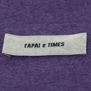 China Sew On Iron On Woven Apparel Tags / Rectangle Woven Fabric Labels on sale