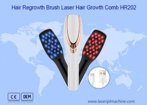China 620nm 2 In 1 Usb Rechargeable Laser Hair Growth Comb on sale