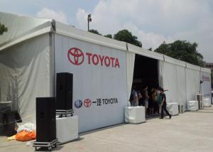 China Environmentally Sporting Event Tents , Clearspan Fabric Structures For Car Show on sale