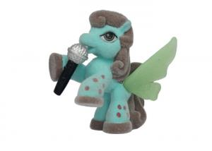 China 5cm Customized Soft My Little Pony Plastic Doll Cartoon Green Wing Style on sale