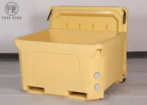 China Over 1000qt High Performance Ice Coolers For Frozen Seafood Shipping Pallet Truck Bottom on sale