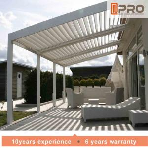 China Durable White Aluminum Attached Pergola Wall Mounted Style For Window Of Office on sale