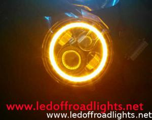 China 7 inch high/low beam 48W LED headlights with halo light,LED headlight kit on sale