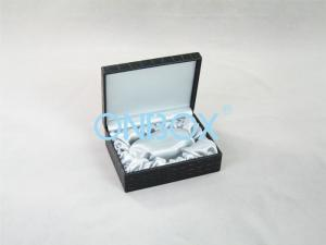 China Crocodile Embossed PU Leatherette Satin Gift Boxes For Men's Belt on sale
