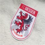 The Shield Shape Dragon Logo Plush Printing Flocking For Garment Decoration