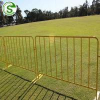 China USA hot sale powder coated barricade fence HDG metal road safety barricades on sale