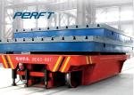 Battery Powered Ladle Transfer Car , Industrial Flat Bed Rail Transfer Trolley