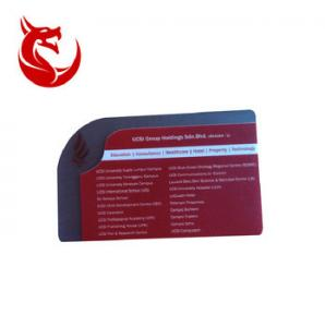 China High quality non-standard size special shape business card plastic business card on sale