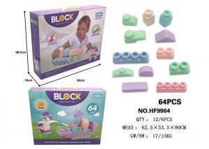 China 64 Pcs 4.9  Large Soft Rubber Building Blocks , Age 12 Months Educational Baby Toys on sale