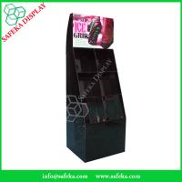 Customized  printed Promotion Rack advertising shelf Cardboard shoe store display racks with pockets