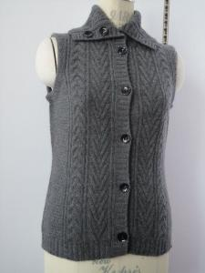 China cable cashmere vest sweater 08KH-08 on sale