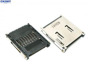 China Master Version Mini Sd Card Connector  , Slot Type Sim Card Socket Connector on sale
