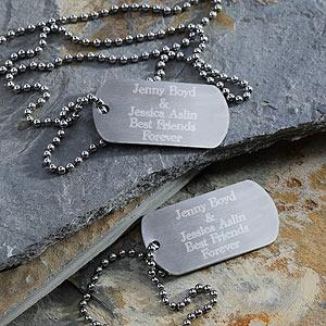 China Business Gift Bone Shape aluminum Metal printing / casting / carved craft Personalised Dog Tags on sale