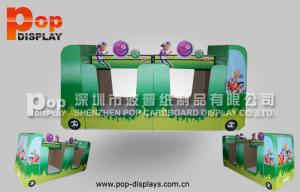 China Custom Larger Capacity Cardboard Pallet Display Stand Back To Back For Snacks on sale