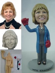 China Polyresin bobble head custom figurine on sale