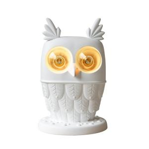 China Cool White Ceramic Nightstand Table Lamps Ti Vedo Owl Animal Shape White Finish on sale