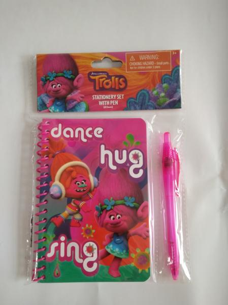 cute trolls notebook sets stationery gift sets for back to school