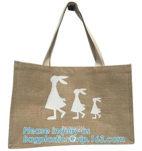 China Custom eco friendly waterproof tote shopping jute pouch bag burlap linen packing gift bag with logo print bagease packag on sale