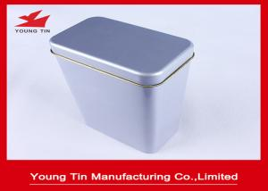 China Blank Metal Tea Tins With Hinged Lids , Tinplate Canister Box 0.23 MM Steel Tinplate on sale