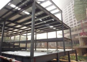 China Prefabricated Light Steel Structure Construction Middle Grey With Alkyd Primer on sale