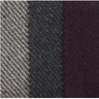 Gray / Black Two Colors Polyester Twill Wool Fabric , Width 150CM
